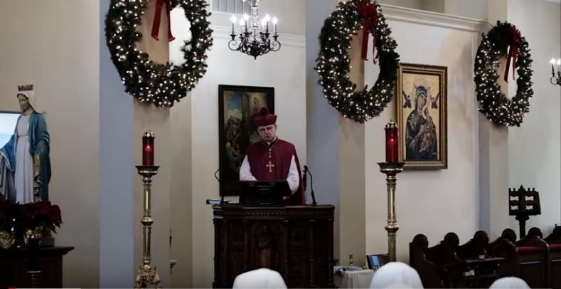 Bp Donald J. Sanborn głosi kazanie na Nowy Rok 2020
