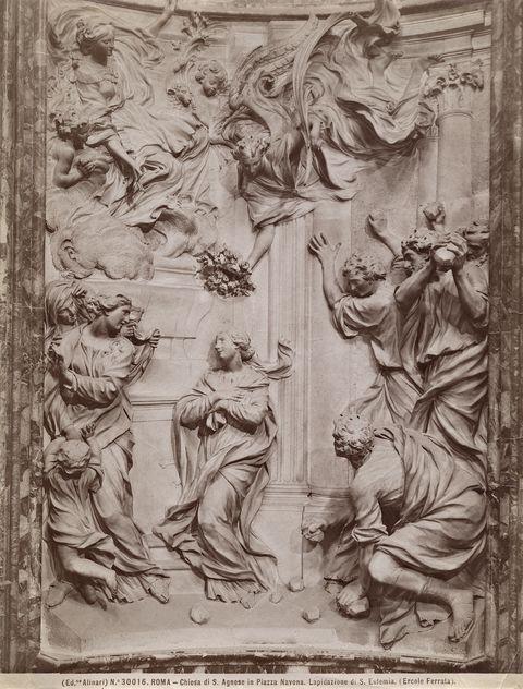 Płaskorzeźba: Męczeństwo św. Emerencjany (Ercole Ferrata, 1660),