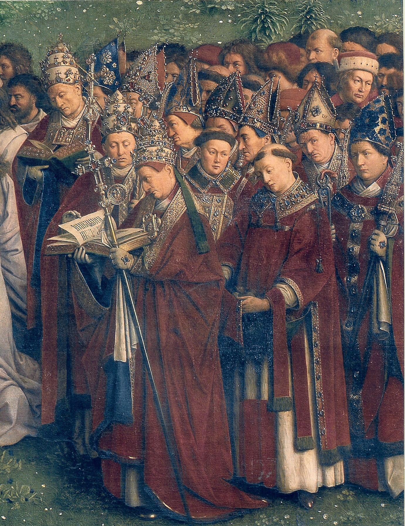 Papieże i biskupi (Jan van Eyck, Ołtarz Gandawski, 1432)