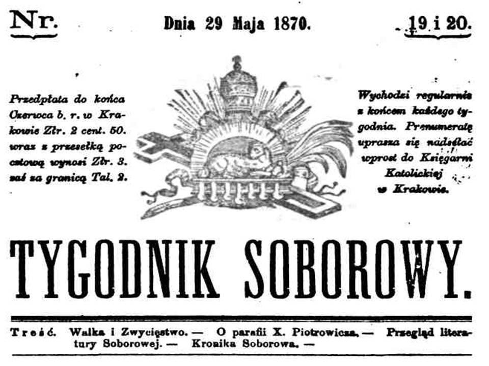 Tygodnik Soborowy. Nr 19 i 20, 1870 r.
