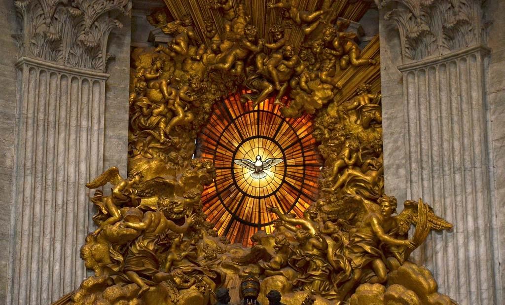 Witraż Ducha Świętego. Bazylika Św. Piotra. Watykan.