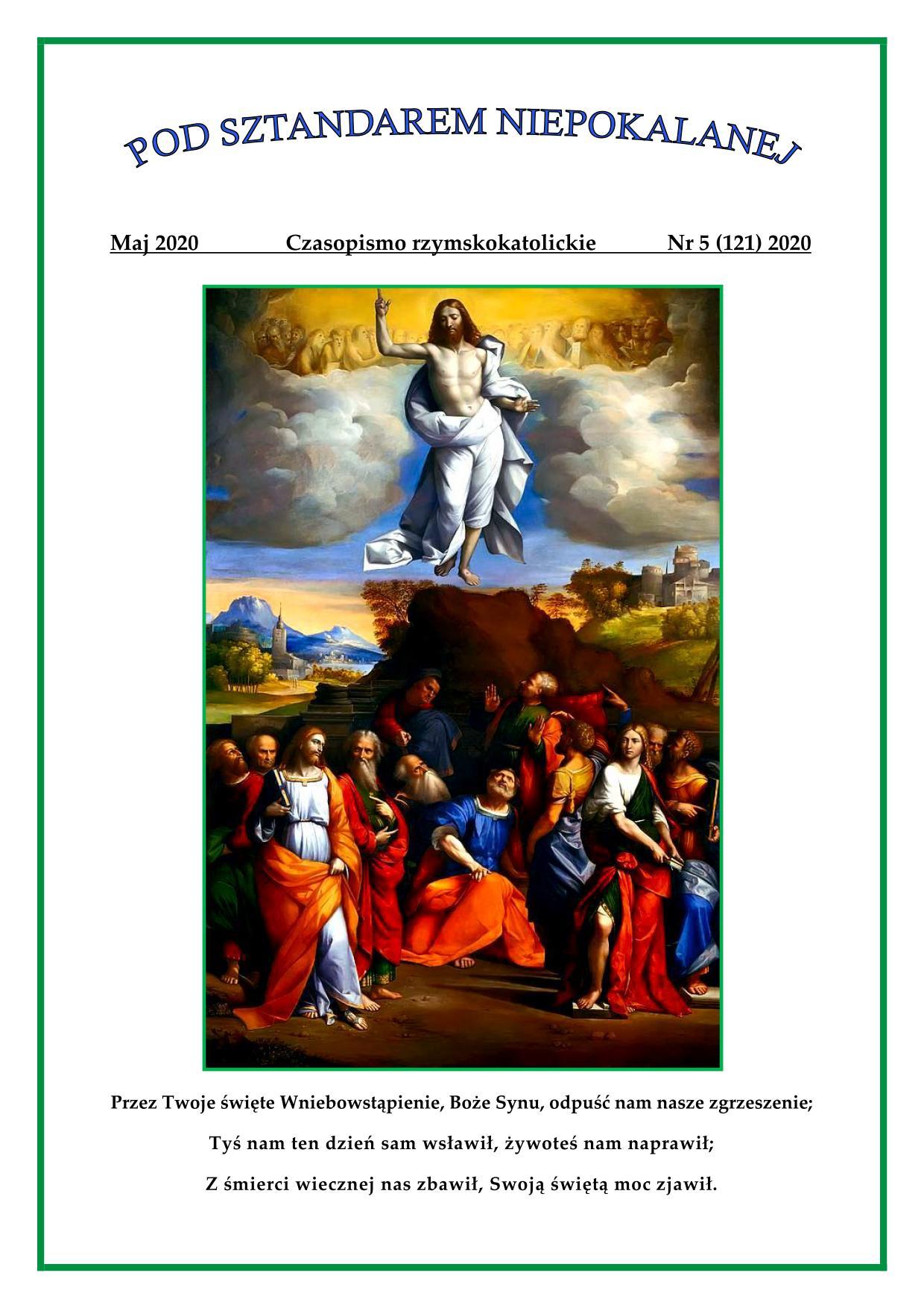 """""""Pod sztandarem Niepokalanej"""". Nr 121. Maj 2020. Czasopismo rzymskokatolickie."""